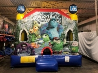 Used Equipment Sales MONSTERS BOUNCE HOUSE   SLIDE COMBO in Cleveland OH