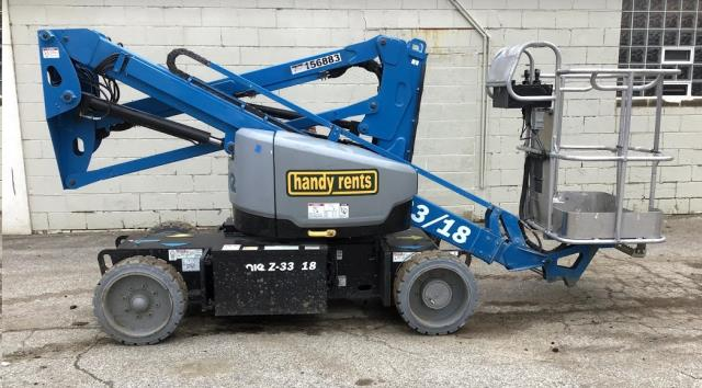 Articulating Lift 33 Foot Genie Z33 18 Sales Cleveland Oh Where To Buy Articulating Lift 33 Foot Genie Z33 18 In Chagrin Falls Cleveland Heights Eastlake Elyria Lakewood Lorain Mayfield Brunswick And Painesville Oh