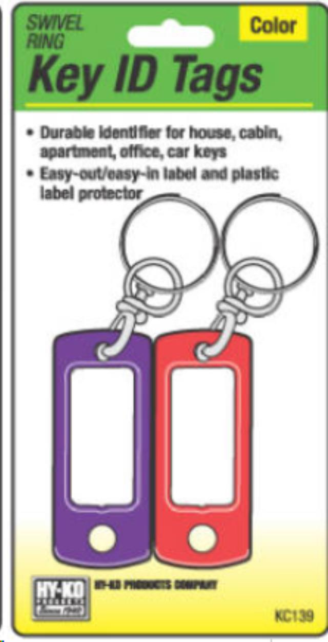 2PK KEY TAG/SWIV RING Sales Cleveland OH, Where to Buy 2PK